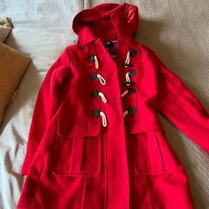 Forever 21 red women's pea coat